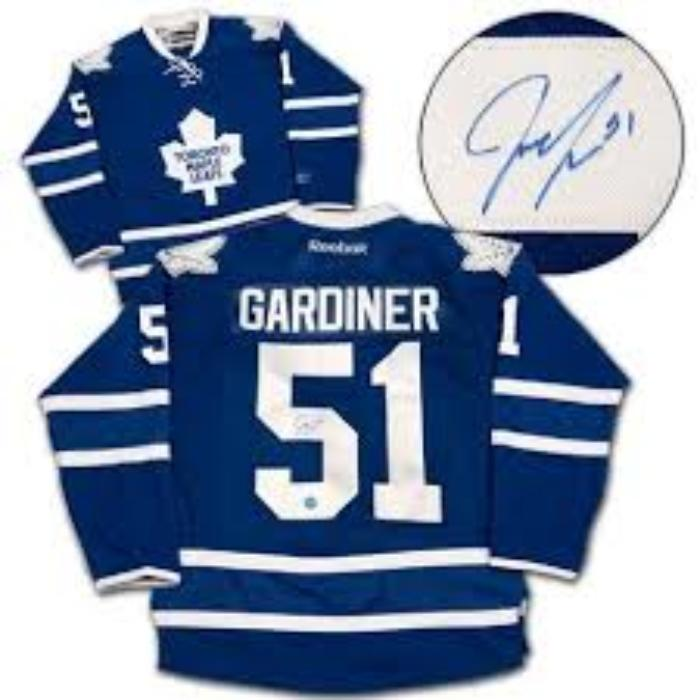 a1510b1a7 Autographed Pro Jersey Jake Gardiner Toronto Maple Leafs up for bids ...
