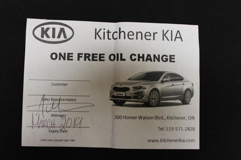 Oil Change from Kitchener Kia up for bids at \