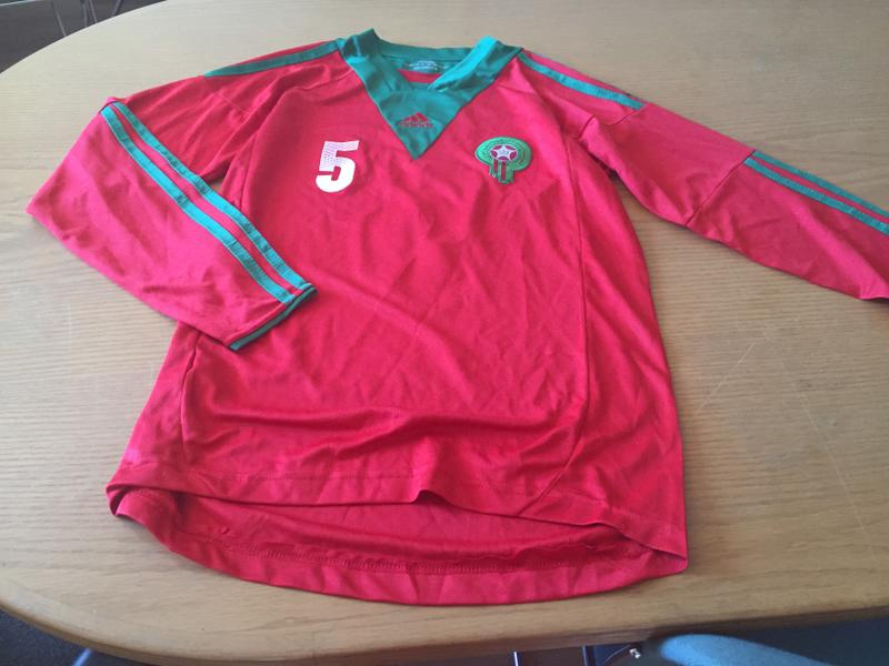 competitive price 4bf7c a0e1c Morocco National Team Jersey up for bids at