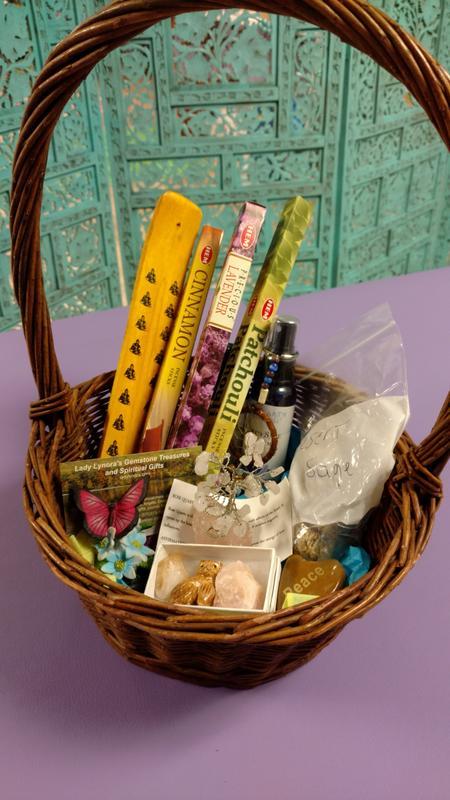 item 106081 image thumbnail & Spiritual Healing Basket up for bids at