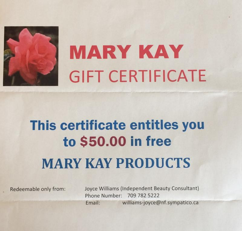 Mary Kay Gift Certificate Up For Bids At Topsail United Church