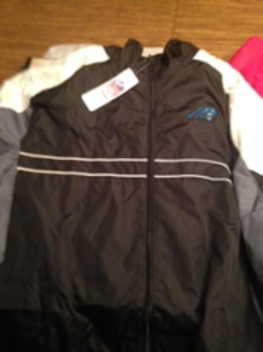 outlet store sale 8ecd1 f3c2c Carolina Panthers Windbreaker up for bids at